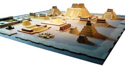 Pic 6: Plan of Tenochtitlan's sacred precinct, now buried under Mexico City's main square, Cathedral and National Palace. Coatépec, Tenochtitlan's largest pyramid, is at the back
