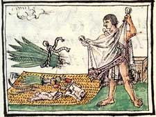 Pic 2: The feather merchant, Florentine Codex Book 10, folio 41r