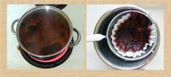Pic 7: Creating and filtering the dye