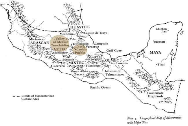 Colour and Culture Among the Aztecs 1 – Aztec Mexico Map