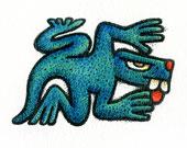 Aztec Daysign no. 4: Lizard