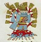 Pic 4: Tlaloc appearing in the form of a tree. Codex Vaticanus A, folio 42v (detail)