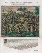 Pic 2: Theodor de Bry (1595) 'Americae pars quinta nobilis & admiratione plena Hieronymi Bezoni Mediolanensis secundae setionis Hispanorum...'