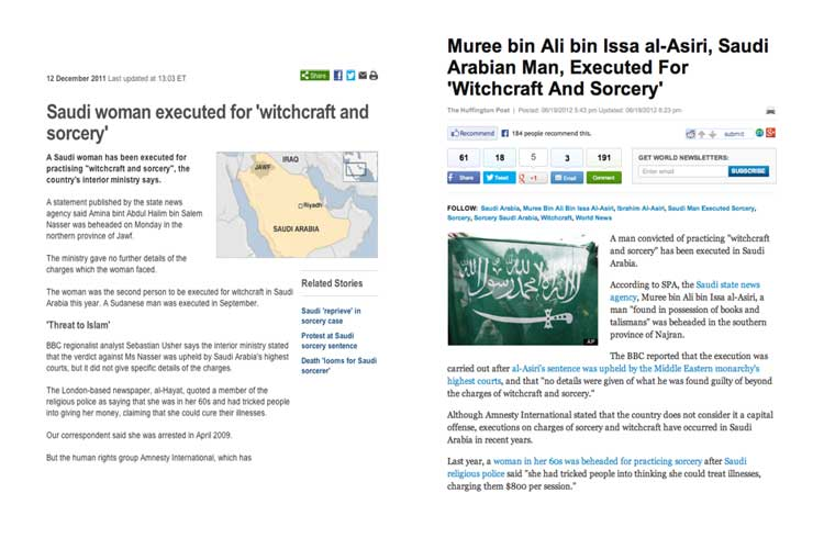 Pic 3 Recent International News Clippings Relating To Executions For Witchcraft And Sorcery