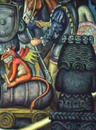 Pic 20: Demonized cannon: detail from a screen mural on the Spanish Conquest of Mexico by Roberto Cueva del Río