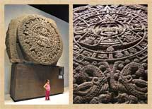 Pic 3: The original Aztec Sunstone, housed in Mexico's National Museum of Anthropology, Mexico City