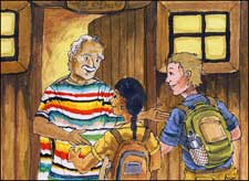 Pic 2: 'Old Señor Pozos opened the hut's door on the first knock'