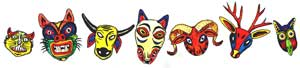 "Pic 5: '""You know about nahuales, no?"" Señor Pozos asked, and he limped toward the animal masks'"
