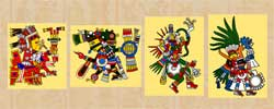 "Pic 14: '""The most famous ones were four brothers: two were Tezcatlipocas, then Quetzalcoatl, and then Huitzilopochtli""'"