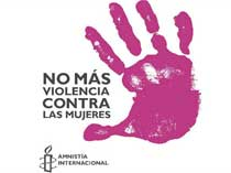 Pic 8: 'No more violence against women' - Amnesty International campaign graphic