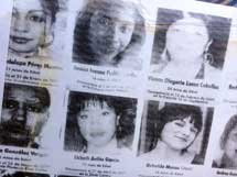 Pic 18: Poster of missing and murdered girls of Ciudad Juarez