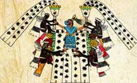 Fig 7: La sacerdotisa de Chicomecoatl. Códice Borbonico