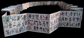Pic 7: Códice Vindobonensis, Mixteca, 1240-1521 d.C., 52 páginas de 26.5 x 22 cm, piel de venado, 22 x 1350 cm, Biblioteca Nacional Viena, Austria