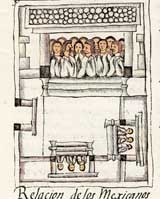 Pic 7: Calpulli temple in the Florentine Codex