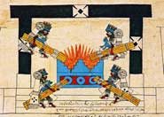 Pic 19: The New Fire ceremony in the early colonial Codex Borbonicus