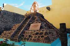 Pic 2: The Aztec pyramid by the church of Santa Ana Tlacotenco, Milpa Alta