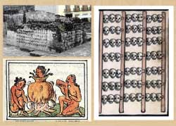 Pic 2: Skull rack, Templo Mayor; cannibalism (Florentine Codex); skull rack, Codex Duran