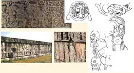 Pic 14: Depictions of human sacrifice at Chichen Itza
