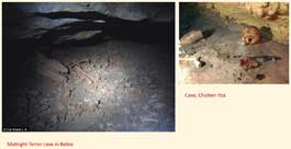 Pic 16: Children's bones found in caves in Belize and the Yucatan