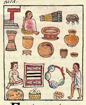 Pic 3: Some of the products at the market; Florentine Codex Book 8
