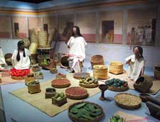 Pic 4: Part of a reconstruction of the market in the National Museum of Anthropology, Mexico City