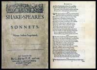 Early edition of Shakespeare's Sonnets, British Library