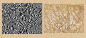Pic 6: Ice rafts on Europa, from the Galileo spacecraft on February 20, 1997, from a distance of 5,340 kilometers; Mapa Quinatzin, leaf 2, upper margin