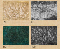 Pic 7: VIS, IR, YVF and UVR images compared