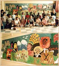 Pic 4: Children at a south London primary school show off their Mexican history mural!