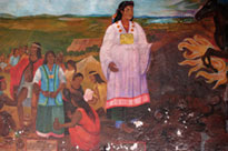 Mural in the Municipal Palace, Cholula, showing Malinche (Malintzin)