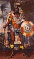 Pic 17: Moctezuma by Antonio Rodrigez c.1690, Museo degli Argenti Florence