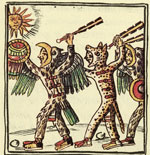 Pic 19: Aztec warriors wielding obsidian clubs, Florentine Codex
