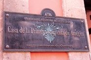 Pic 4: Plaque commemorating the first printing press in the Americas, Calle Moneda, Mexico City