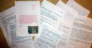 A selection of letters and questions on the Aztecs from the Raleigh School