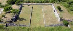 Pic 2: The ballcourt of Xochicalco