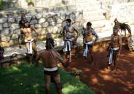 Pic 18: Ulama players in Xcaret, Quintana Roo disguised as ancient Maya
