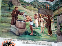 Pic 13: Evangelisation of Mexico: mural in the Our Lady of Guadalupe Church, Calle 69 n53 -Av.6, Venustiano Carranza, Federal District, Mexico