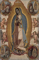 Pic 16: Virgin of Guadalupe circa 1700s, oil on canvas painting, anonymous, Indianapolis Museum of Art