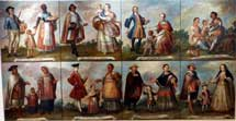 Pic 4: A series of 18th century oil paintings depicting scenes of 'mestizaje' in colonial Mexico