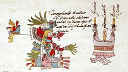 Pic 4: Tonacatecuhtli and the first human couple; Codex Vaticanus A, fol. 12v