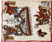 Pic 7: Note the Cipactli calendrical sign, as in pic 6; Codex Vaticanus B, fol. 28