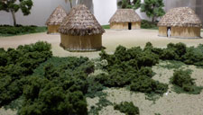 Pic 2: Model of traditional Maya houses, whose resilient form and construction techniques have endured for 2,000 years; Museo de América, Madrid