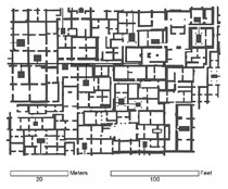 Pic 5: Floor plan of the Tlamimilolpa apartment compound at Teotihuacan. Redrawn and modified from Linné (2003)