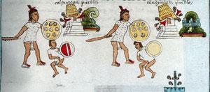 Pic 8: Aztec conquests, Codex Mendoza fol 2, detail