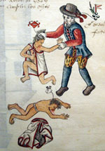 Pic 14: Spanish cruelty to indigenous people; Codex Kingsborough (British Museum)