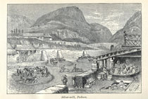 Pic 16: Silver mine at Pachuca – from Appletons' Guide to Mexico, 1895