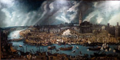 Pic 17: Oil painting of Seville, late 16th century; attributed to Sánchez Coello, Museo de América, Madrid
