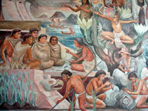 Pic 10: Mural of Aztec culture (detail), Instituto de Investigaciones Históricas, Mexico City
