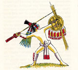 Pic 14: Illustration of an Aztec warrior by Miguel Covarrubias