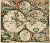 Pic 3: World Map 1689 ('Nova totius terrarum orbis tabula Amstelodami'), Amsterdam